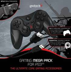 Gioteck Gaming Mega Pack (PS3) Controller, Charge Cable & HDMI Cable - £5.00 @ Tesco