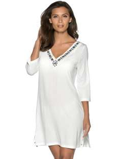 Get Set for Summer! Beaded Beach Dress, £8 down from £25, 4 colours, FREE Delivery. M & Co.