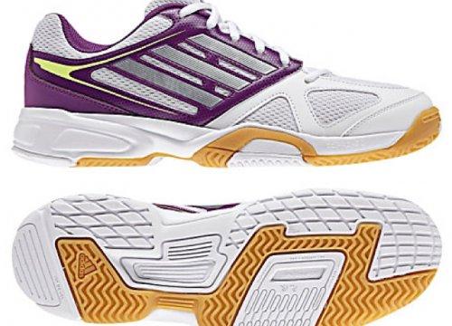 Adidas Women's Opticourt Ligra 2 Indoor Court Trainers, White/Purple £20 @ John Lewis Free c&c