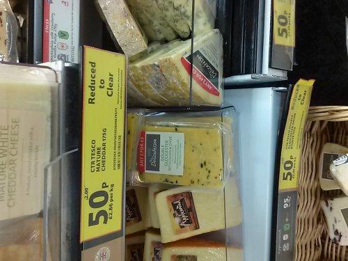 Tesco Deli Cheese Clearance @ 50p