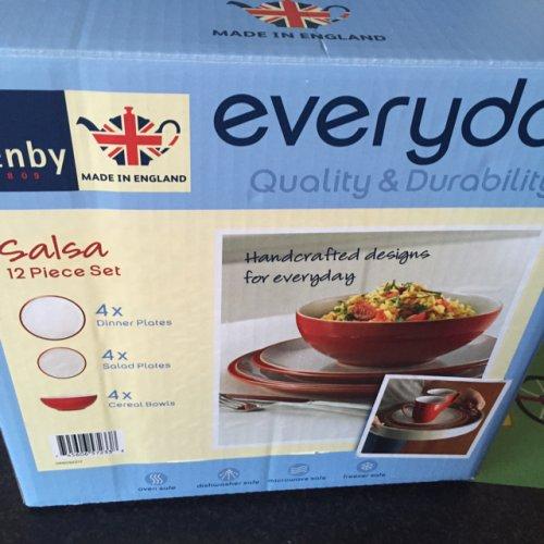 Denby 4 piece red dinner set scanning £18.50 @ Tesco instore