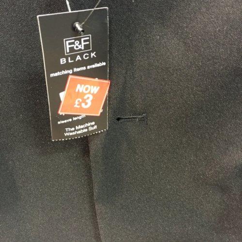 Men's black suit jacket £3 @ Tesco instore
