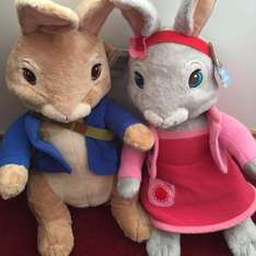 Peter rabbit and lilly large plush £5.00 each @ Tesco