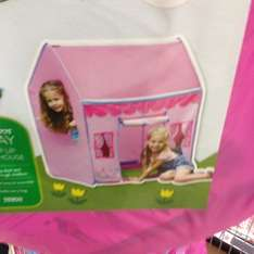 Pink pop up play house £1 tesco In store