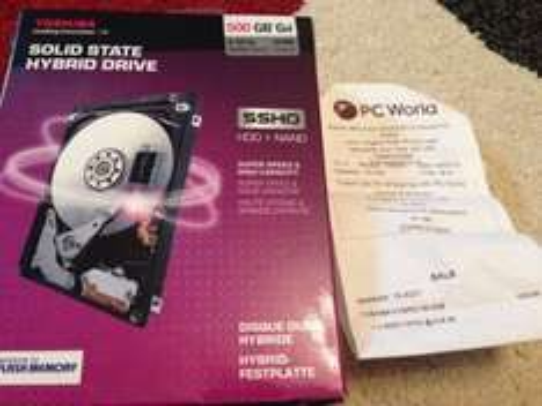 "Toshiba 500gb Solid State Hybrid 2.5"" HDD £39.99 @ pcworld"