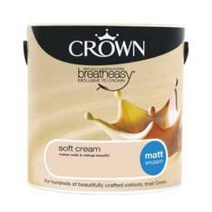All Crown Breatheasy/Neutral 2.5l emulsions less than half price £9 @ B&Q