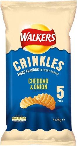 Walkers Crinkles Crisps - (5 x 28g) was £1.69 now 84p @ Morrisons