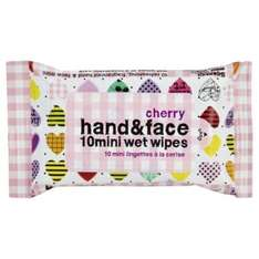 Pack of 10 mini cherry scented wet wipes 25p free c&c @ Tesco direct