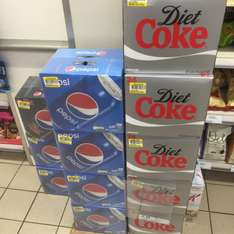 Pepsi and Coke 24 Pack Reduced to £5 in Tesco Metro Finnieston
