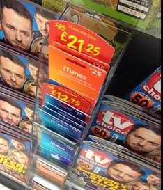 iTunes Gift Card £15 for £12.75 or £25 for £21.25 Instore at Asda
