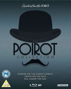 Poirot Blu-ray Boxset (Murder On The Orient Express / Death On The Nile / Evil Under The Sun) £12.99 delivered @ zavvi.com