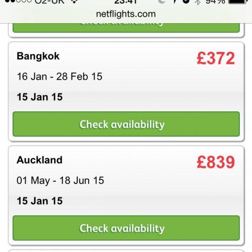 Bangkok from London £372 Cathay Pacific