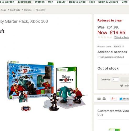 Disney Infinity Starter Pack, Xbox 360 £19.95 @ John Lewis