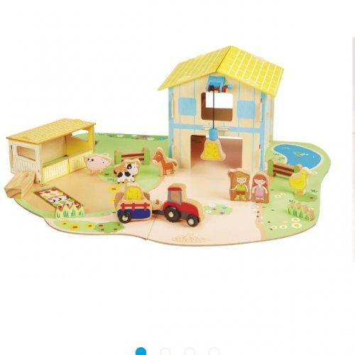 Carousel wooden farm play set £5 in-store @ tesco