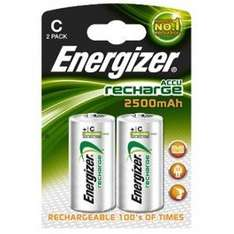Rechargeable C size batteries Special buy 2 packs for £11.98 @ 7dayshop