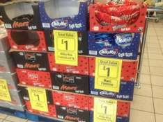 Mars or Malteasers or Milky Way Funsize bags 250g or 225g bags only £1 at Farmfoods