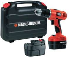 Black & Decker EPC148BK 14.4V NiCd Cordless Hammer Drill (2 Batteries and Kitbox) £39.99 @ Amazon