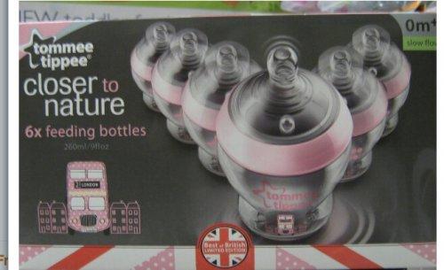"Tommee Tippee ""BEST OF BRITAIN"" Girls Bottles 260ML X 6 -Home Bargains £12.99"