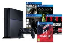 Playstation 4 Console with 5 Games - Watch Dogs + Alien Isolation + The Last Of Us + Drive Club + Wolfenstein - £363.99 - Tesco/Rakuten/ShopTo (Read Description)