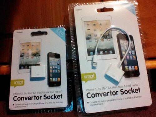 iPod iPad iphone 21 pin to lightning converter socket - £1.00 Poundworld