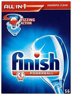 Finish box of 56 All in 1 Powerball Dishwasher Tablets £5.49 @ Savers