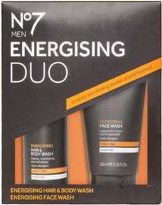 No 7 Men Energising Body and Skincare Duo £5 @ Boots