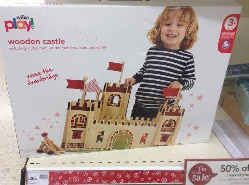Wooden Castle 50% off now £10 @ Wilko