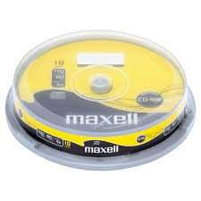 B&M stores CD/DVD media clearance Maxell 10CD £1 , 25 DVD £3