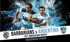 Barbarians v Argentina Rugby tickets from £18 at Groupon