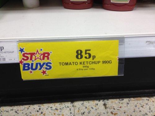 Heinz Tomato Ketchup 990g 85p @ Home bargains