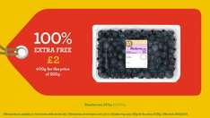 Morrisons Blueberries 100% extra Free 400g ( was 200g) £2.00