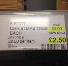 Christmas stock reduced - trees 6ft down to £2.50 and crackers £1 and lots more  @ Co-operative