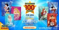 4 disney blu-rays reduced to 550 points each on disney movie rewards (DMR vouchers in the dvd / Blurays case) Fantasia tangled cars 2 & pirates of caribbean