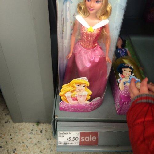 Disney princess sparkle doll £5.50 at asda