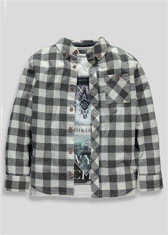 Boys Shirt And T-Shirt Set (3-13yrs)  Now £2.00 @ matalan