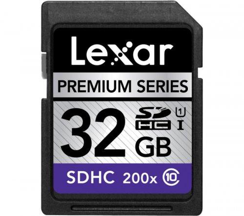 32GB Lexar Premium Class 10 200x SDHC Memory Card £11.50 Delivered @ Ebuyer