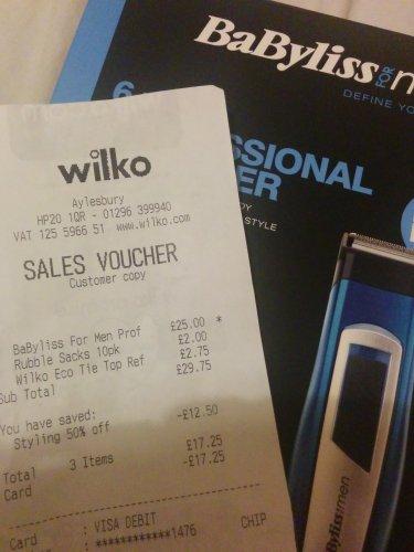BaByliss mens 6 in 1 £12.50 @ Wilko
