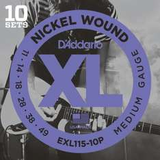 D'Addario EXL115 (11-49) Electric Guitar Strings (10pack) £20.44 delivered at Amazon