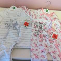 Disney baby clothes from 0.98p in asda instore