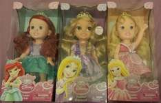 My first toddler doll Aurora and ariel scanning £5 each, and my first toddler rapunzel scanning £6.25  @ ilkeston tesco instore