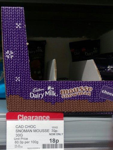 Cadbury's Chocolate Mousse Snowman 18p @ Co-Op