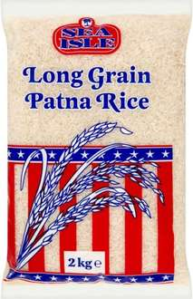 Sea Isle American Patna or Pure Fluffed Rice (2kg) ONLY 80p @ Morrisons