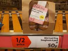 Pack 6 Iced Mini Doughnuts Half Price 50p @ Morrisons