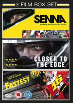 Senna/TT: Closer To The Edge/Fastest DVD Boxset (NEW) £3.49 Delivered from zoomonline @ eBay