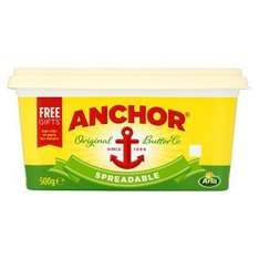 Anchor Spreadable Butter Original & Unsalted 500g Now Only £1.94 Each @ Asda