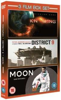 Moon/District 9/Knowing DVD Boxset (NEW) £2.99 Delivered from zoomonline @ eBay