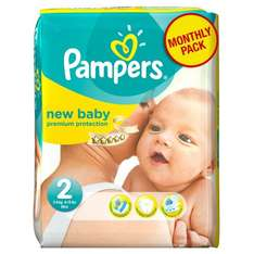 Pampers New Baby Size 2 (Mini) Monthly Pack - 240 Nappies £0.08 each £20 delivered @ Amazon