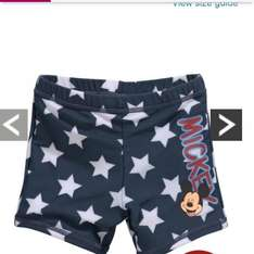 Mickey Mouse swimming trunks £2.40 @ very free collect+