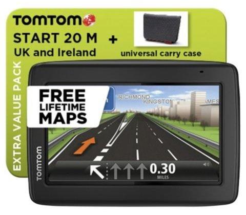 """TomTom Start 20 4.3"""" Sat Nav UK & ROI with Lifetime Maps and Carry Case £69.00 @ Tesco"""