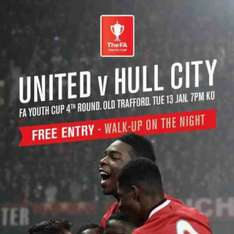 MUFC v Hull City U18 match @ Old Trafford on Tuesday 13 January 7PM